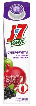 Нектар J7 ТОНУС Иммунитет гранат, яблоко, арония, экстракт ягод годжи