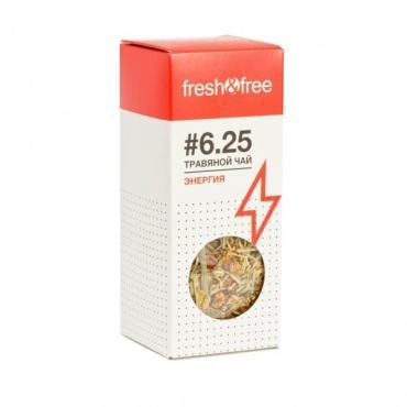 Чай листовой травяной Fresh&Free 6.25 Энергия, 75 гр., картонная коробка