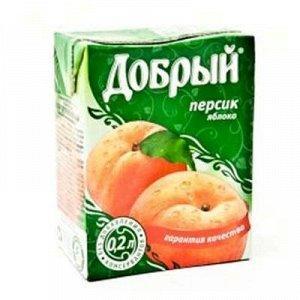 Сок Добрый персик, 200 мл., тетра-пак