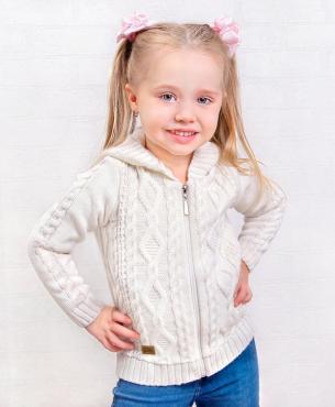 Жакет для девочки, 32-122, коричневый, Golden Kids, Адель, Россия, 220 гр., пластиковый пакет