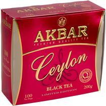 Чай Akbar Ceylon 100 пакетов 200 гр