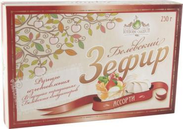 Зефир Ассорти,  Белевские сладости, 250 гр., картон