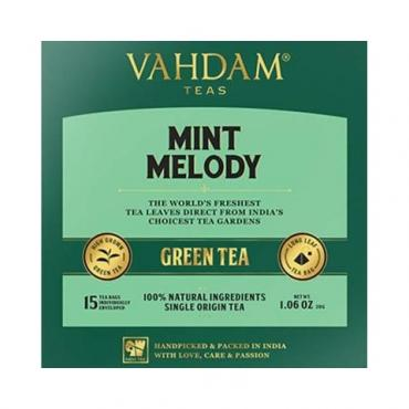 Чай зеленый Vahdam Teas Mint Melody 15 пакетов