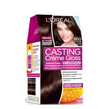 Краска для волос L'Oreal Casting Creme Gloss 500 cветлый каштан Без аммиака