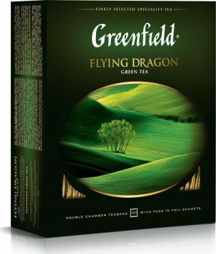 Чай пакетированный Greenfield Flying Dragon зеленый
