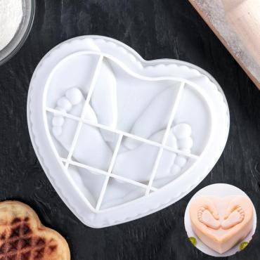 Форма для муссовых десертов и выпечки Доляна Забота родителей 17,5×6 см. белый