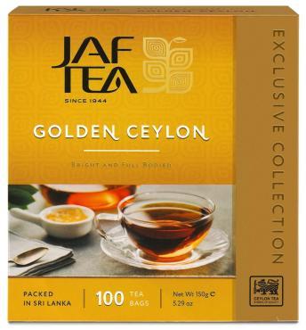 Чай Jaf Tea Golden Ceylon, черный, 100 пак.
