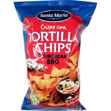 Кукурузные чипсы барбекю со вкус смет Santa Maria 185 гр., пластиковый пакет