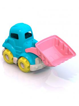 Трактор Шкода голубой, розовый Нордпласт