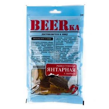 Рыбка Beerka Янтарная с перцем сушеная