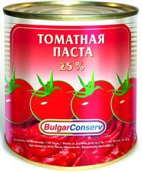 Томатная паста BulgarConserv, 360 гр., жестяная банка