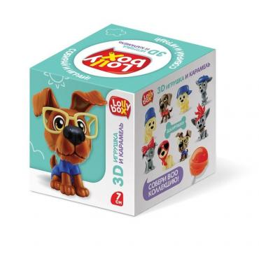 Карамель с игрушкой Lolly Box Дворняжки, 11,4 гр., картонная коробка