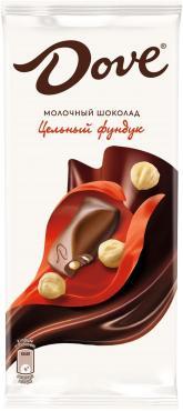 Шоколад Dove молочный с цельным фундуком 90 гр.