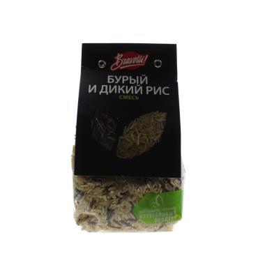 Смесь риса бурый и дикий, Bravolli, 350 гр., флоу-пак
