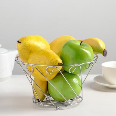 Ваза для фруктов Доляна 20х20х11 см.
