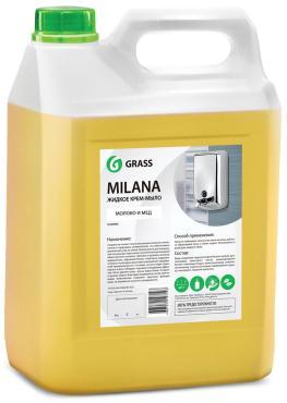 Жидкое крем-мыло Grass Milana. Молоко и мед, 5 л.