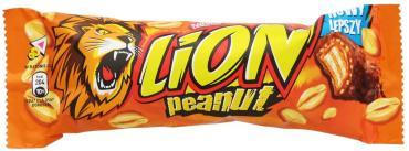Батончик Lion Peanut Butter вафельный с карамелью, пшеничными хлопьями и арахисом