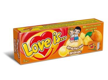 Жевательная резинка Love Is Апельсин и Ананас