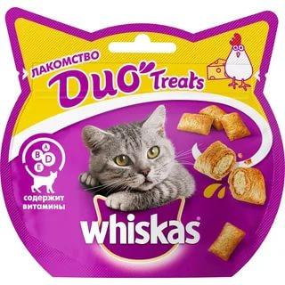 Лакомство Whiskas Duo Treats с индейкой и сыром