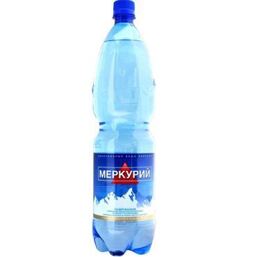 Вода минеральная питьевая лечебно-столовая газированная Меркурий, 1,5 л., ПЭТ