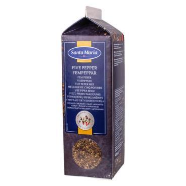 Смесь из пяти видов перца дробленая Santa Maria, 410 гр., картонная коробка