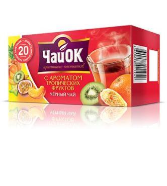 Чай черный ЧайОК С ароматом тропических фруктов 20 пакетов