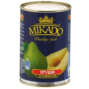 Фрукты консервированные Mikado груша половинки в сиропе