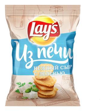 Чипсы Lay's Из печи Нежный сыр с зеленью