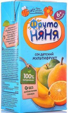 Сок ФРУТОНЯНЯ Мультифрукт 500г