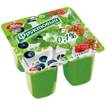 Йогурт Гек Фруктовый бриз Черника и малина 0,1%