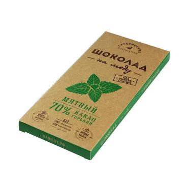 Шоколад Шоколад На Меду Горький 70% какао Мятный