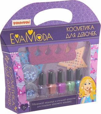 Набор детской косметики Eva Moda Лаки для ногтей, 5 цветов