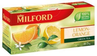 Чай Milford Лимон-Апельсин зеленый 20 пак