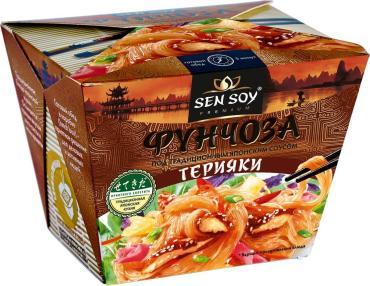 Фунчоза Sen Soy Под традиционным японским соусом терияки