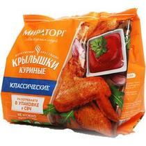 Крылышки куриные замороженные Мираторг классические, пакет 400 гр.