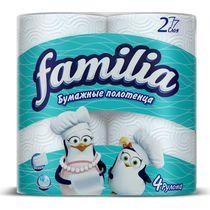 Бумажные полотенца Familia 2 слоя 4 рулона
