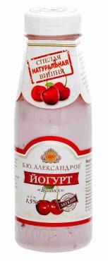 Йогурт Б.Ю. Александров вишня 1,5%