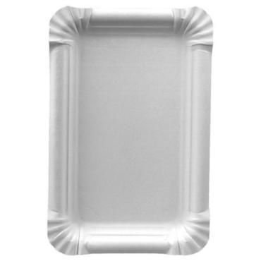 Тарелка бумажная Papstar эко картон белый 230х165мм.