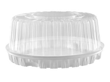 Упаковка кондитерская Комус Тортница круглая дно+крышка Н123хD334мм. на 2,5кг. Т-280