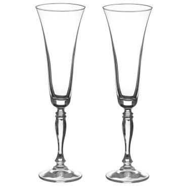 Набор фужеров для шампанского Bohemia Crystal Виктория Свадебный 180 мл. 2 шт.