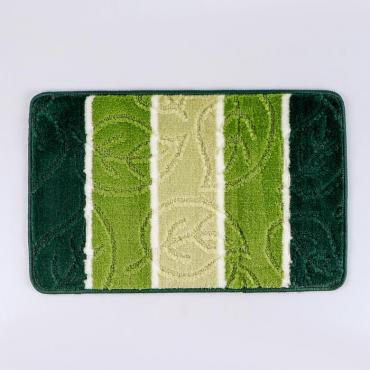 Коврик для ванны Доляна Листья 40х60 см. зеленый напольный