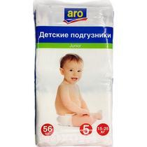 Подгузники детские, 15-25 кг., 56 шт., Aro Junior, пластиковый пакет