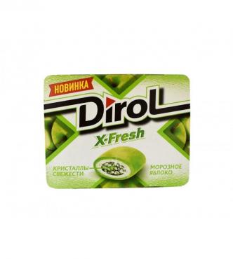Жевательная резинка X-Fresh Морозное яблоко, Dirol, 16 гр., картон