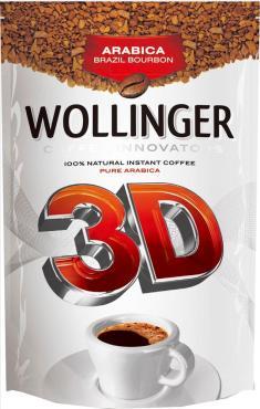 Кофе растворимый Wollinger 3D натуральный сублимированный, 150 гр., дой-пак