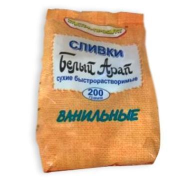 Сливки Экстра-продукт Белый Арап ванильные, сухие