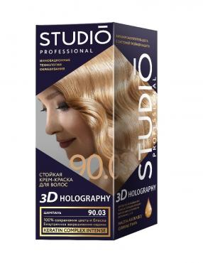 Крем-краска для волос Studio 3D Holography тон 90.0 Саванна