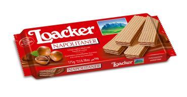 Вафли Loacker хрустящие со вкусом лесных орехов