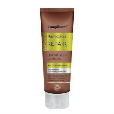 Шампунь Compliment Perfect Hair Repair Масло макадамии биогиалурон +11 аминокислот для волос