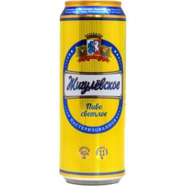 Пиво Жигулевское Рязанское светлое пастеризованное 1 л., ж/б