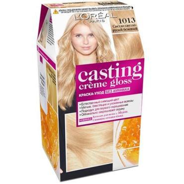 Краска для волос L'Oreal Casting Creme Gloss без аммиака - 1013 светлый-светлый русый бежевый